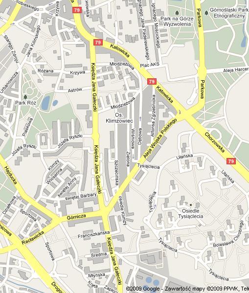 Klimzowiec Mapa