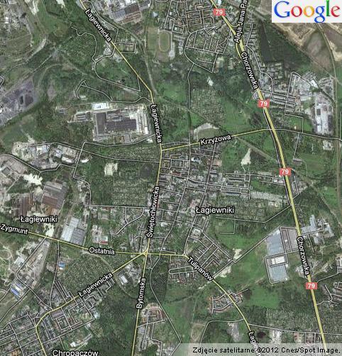 Łagiewniki Bytom - Mapa