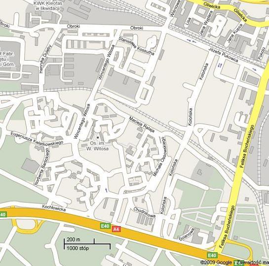 Katowice Mapa Osiedla Witosa